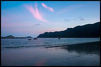 An Hai Beach and Con Son Bay at sunset. Con Dao Islands, Vietnam ( color)