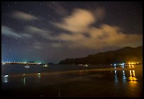 An Hai Beach and pier at night, Con Son. Con Dao Islands, Vietnam ( color)