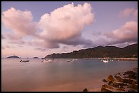 Harbor at dawn, Con Son. Con Dao Islands, Vietnam ( color)