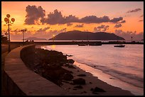 Seafront and Wharf 914 before sunrise, Con Son. Con Dao Islands, Vietnam ( color)