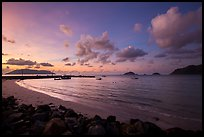 Harbor and Con Son Bay before sunrise. Con Dao Islands, Vietnam ( color)