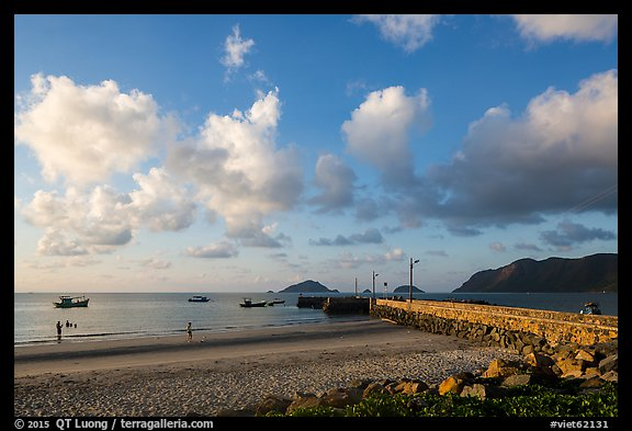 Con Son Beach and Wharf 914. Con Dao Islands, Vietnam (color)