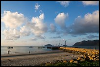 Con Son Beach and Wharf 914. Con Dao Islands, Vietnam ( color)