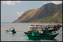 Fishing boats and hills, Con Son. Con Dao Islands, Vietnam ( color)
