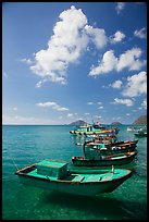 Fishing boats, Con Son. Con Dao Islands, Vietnam ( color)