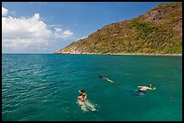 Snorklers near Bay Canh Island, Con Dao National Park. Con Dao Islands, Vietnam ( color)