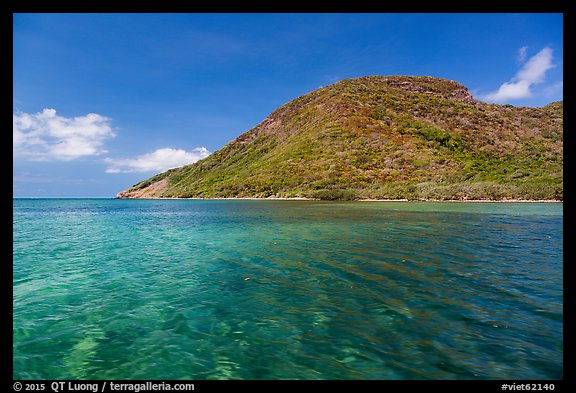 Clear waters over reef, Bay Canh Island, Con Dao National Park. Con Dao Islands, Vietnam (color)