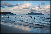 Popular main beach, Con Son. Con Dao Islands, Vietnam ( color)