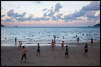 Main Con Son Beach at sunset. Con Dao Islands, Vietnam ( color)