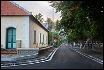 Old custom house and street, Con Son. Con Dao Islands, Vietnam ( color)