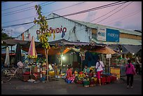 Con Dao market at dusk, Con Son. Con Dao Islands, Vietnam ( color)
