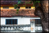Close-up of historic building, Con Son. Con Dao Islands, Vietnam ( color)