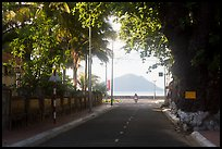 Street leading to the bay, Con Son. Con Dao Islands, Vietnam ( color)
