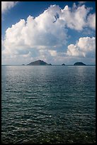 Con Son Bay with islets and clouds. Con Dao Islands, Vietnam ( color)