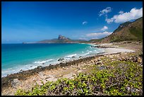 Coastline with turquoise water. Con Dao Islands, Vietnam ( color)