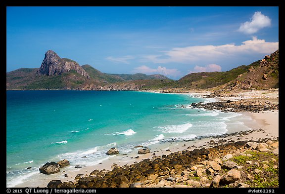 Turquoise water and Ba Island. Con Dao Islands, Vietnam (color)