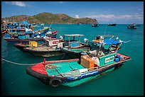 Ben Dam fishing harbor. Con Dao Islands, Vietnam ( color)