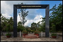Monumental gate to Hang Duong Cemetery. Con Dao Islands, Vietnam ( color)