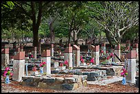 Hang Duong memorial cemetery. Con Dao Islands, Vietnam ( color)