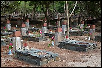 Unmarked graves, Hang Duong Cemetery. Con Dao Islands, Vietnam ( color)