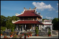 Shrine, Hang Duong Cemetery. Con Dao Islands, Vietnam ( color)