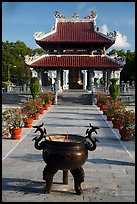 Urn and shrine, Hang Duong Cemetery. Con Dao Islands, Vietnam ( color)