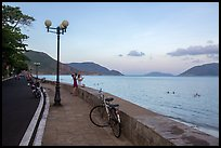 Calm evening on seafront promenade, Con Son. Con Dao Islands, Vietnam ( color)