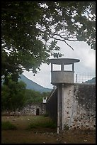 Prison wall and tower, Con Son. Con Dao Islands, Vietnam ( color)