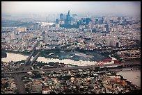 Aerial view of Saigon River and downtown. Ho Chi Minh City, Vietnam ( color)