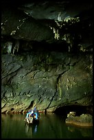 Boat and tunnel, Phong Nha Cave. Vietnam ( color)