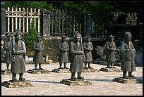 Statues of Mandarins in Khai Dinh Mausoleum. Hue, Vietnam ( color)