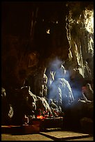 Altar in Tam Thanh Cave. Lang Son, Northest Vietnam (color)