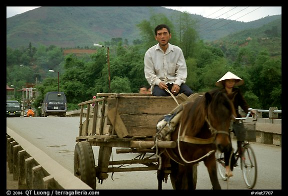 Horse carriage, Cao Bang. Northeast Vietnam (color)