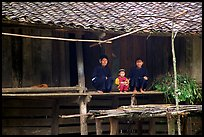 Women and child of the Nung ethnicity in front of their home. Northeast Vietnam ( color)
