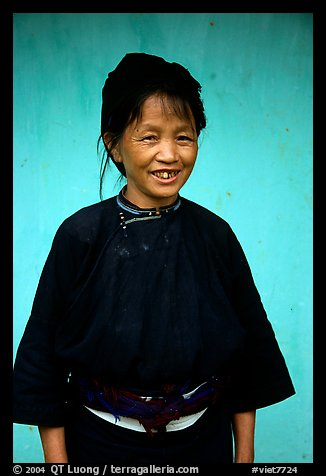 Woman of the Nung hill tribe in traditional dress. Northeast Vietnam (color)