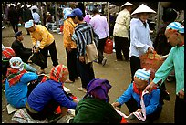 Hilltribeswomen at the Cho Ra Market. Northeast Vietnam (color)