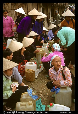 Alcohol stand, Cho Ra Market. Northeast Vietnam (color)