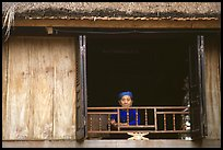 Old woman at her window, Ban Lac. Northwest Vietnam ( color)