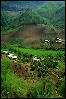 Village, between Yeu Chau and Son La. Northwest Vietnam (color)