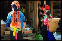 Dzao women, Tuan Giao. Northwest Vietnam ( color)
