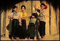 Montagnard Children near Tuan Giao. Northwest Vietnam ( color)