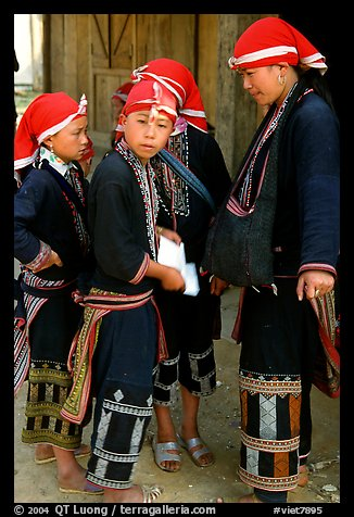 Red Dzao boys. Sapa, Vietnam (color)