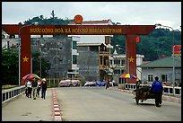 The Vietnamese side of the border crossing at Lao Cai. Vietnam ( color)