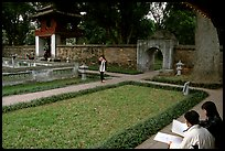 Gardens of the temple of Litterature. Hanoi, Vietnam (color)