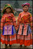 Two Flower Hmong girls. Vietnam