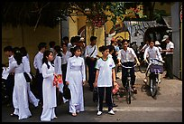 Uniformed school children. Ho Chi Minh City, Vietnam (color)