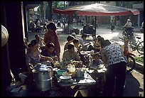 Street restaurant. Ho Chi Minh City, Vietnam (color)