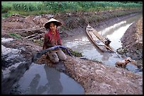 Mechanized irrigation. Mekong Delta, Vietnam (color)