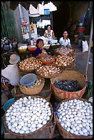 A variety of eggs for sale, district 6. Cholon, Ho Chi Minh City, Vietnam ( color)
