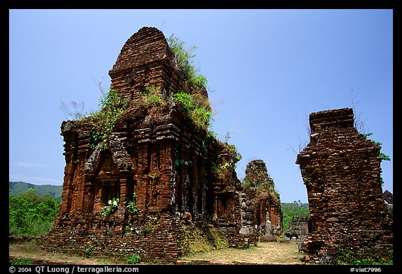 Ruined Champa towers. My Son, Vietnam (color)